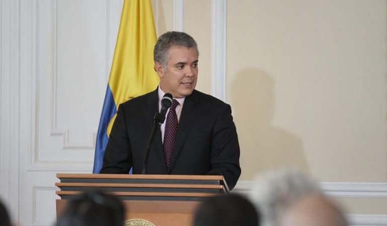 Protesta social: Duque: La protesta social en Colombia es un derecho y hay que respetarlo