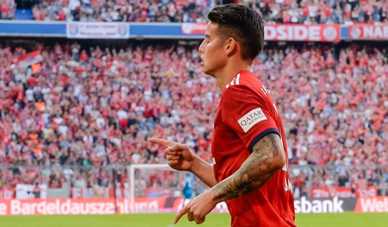James Rodríguez gol Bayern Múnich: James Rodríguez reapareció con gol en el Bayern Múnich