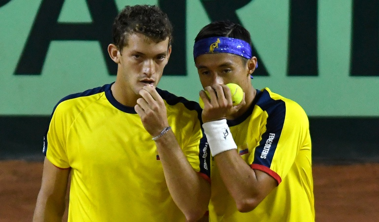 Colombia Copa Davis Alejandro Gomez Cristian Rodriguez: Alejandro Gómez y Cristian Rodríguez caen ante Argentina en la Copa Davis