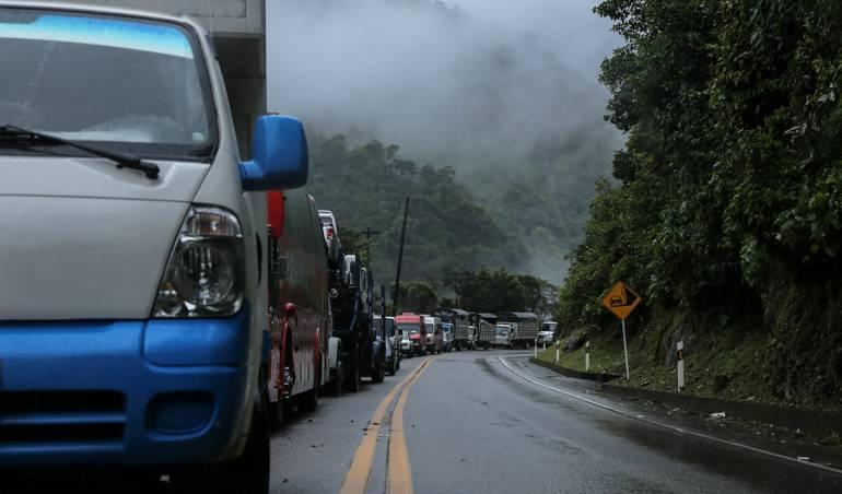 Foto de archivo de la vía Bogotá - Villavicencio.