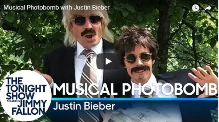Así bailaron Justin Bieber y Jimmy Fallon en las calles de Nueva York