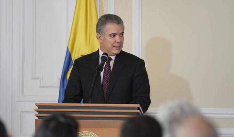 Duque dice que mantiene voluntad de diálogo con la guerrilla del ELN