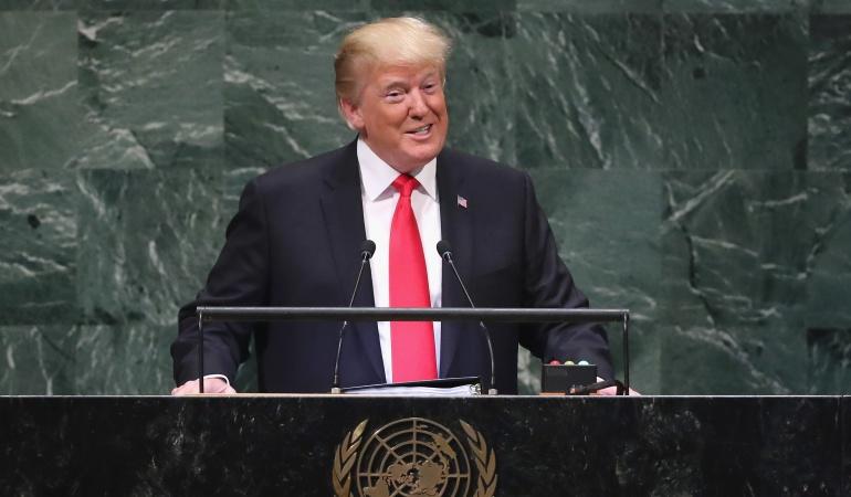 En la ONU no se rieron de mí, se rieron conmigo — Trump