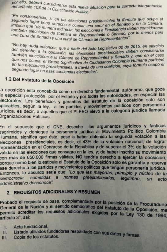 Gustavo Petro: Colombia Humana vuelve a pedir personería jurídica al CNE