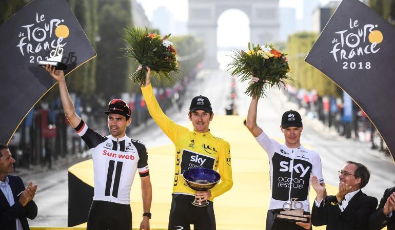 Geraint Thomas trofeo: Roban el trofeo de Geraint Thomas del título Tour de Francia