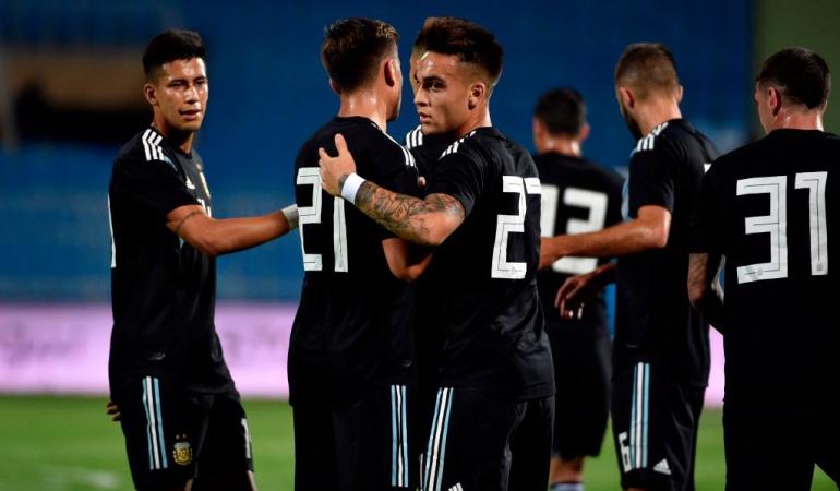 Argentina 4-0 Irak amistoso: Argentina goleó a Irak en la víspera de su duelo ante Brasil
