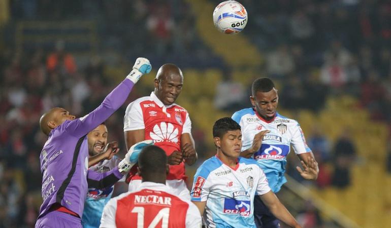 Santa Fe Junior Liga Águila: Santa Fe y Junior no se sacaron diferencias en partidazo en El Campín