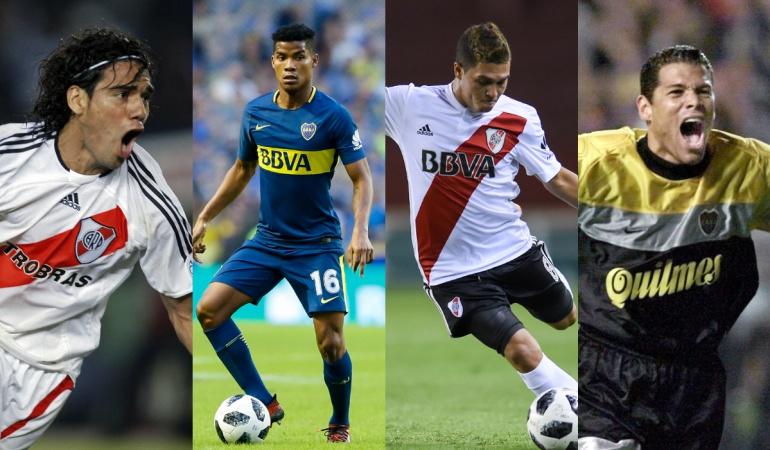 Falcao García, Wilmar Barrios, Juan Fernando Quintero y Óscar Córdoba.