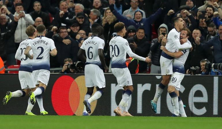 tottenham champions davinson sanchez psv: Con Dávinson Sánchez, Tottenham saca valiosa victoria en Champions