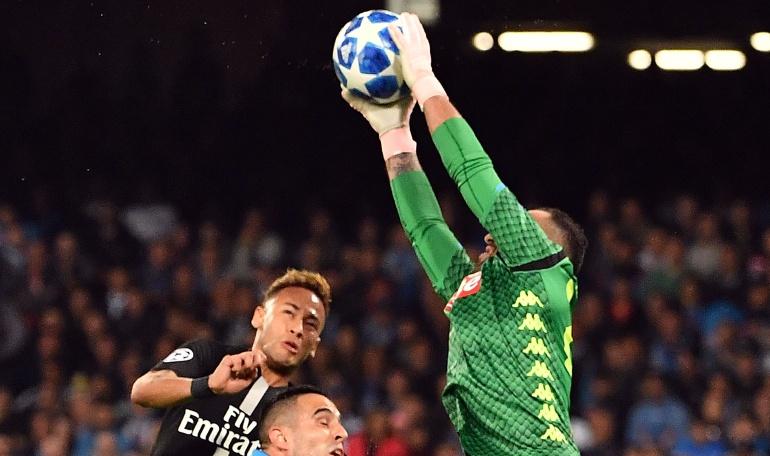 psg napoli david ospina champions league: Ospina y dos invictos frente al PSG con Napoli