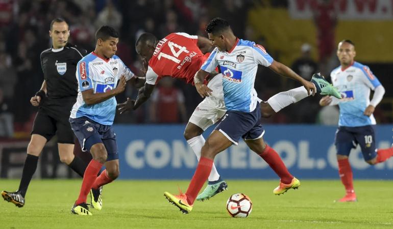 Santa Fe 0-2 Junior: ¡Duro golpe: Junior ganó en Bogotá y definirá con ventaja en su casa!
