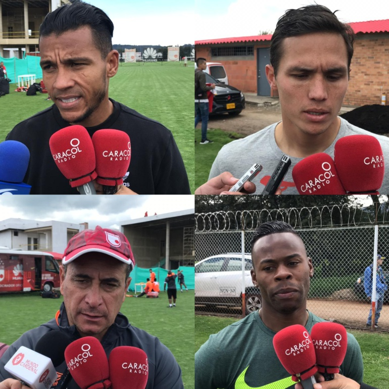 Wilson Morelo, Luis Manuel Seijas, Guillermo Sanguinetti t Carlos Arboleda