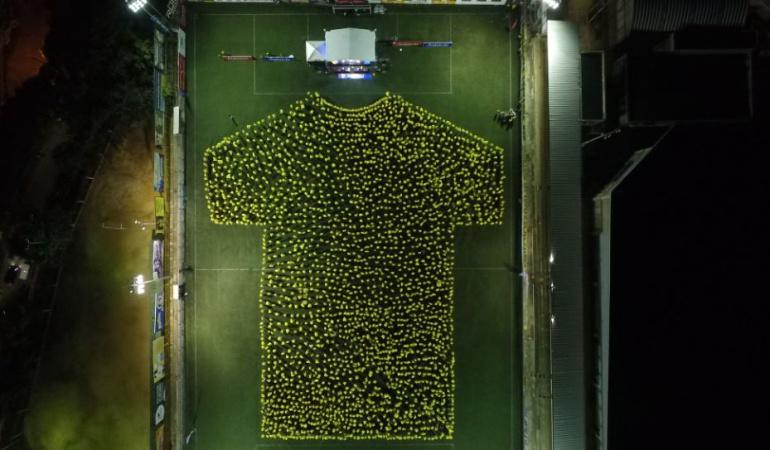 Atletico Bucaramanga récord Guinness: El récord Guinness con la camiseta del Atlético Bucaramanga