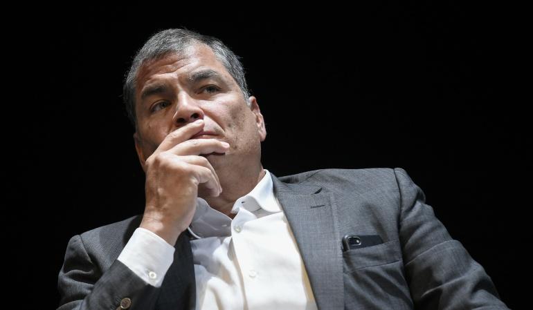 Persecución política: Rafael Correa asegura ser víctima de una persecución política