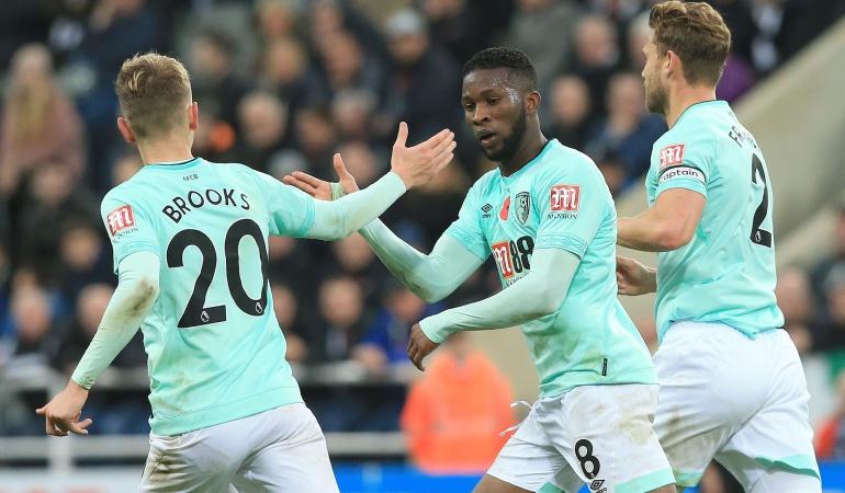 Jefferson Lerma: Lerma marcó su primer gol en Inglaterra en la caída del Bournemouth