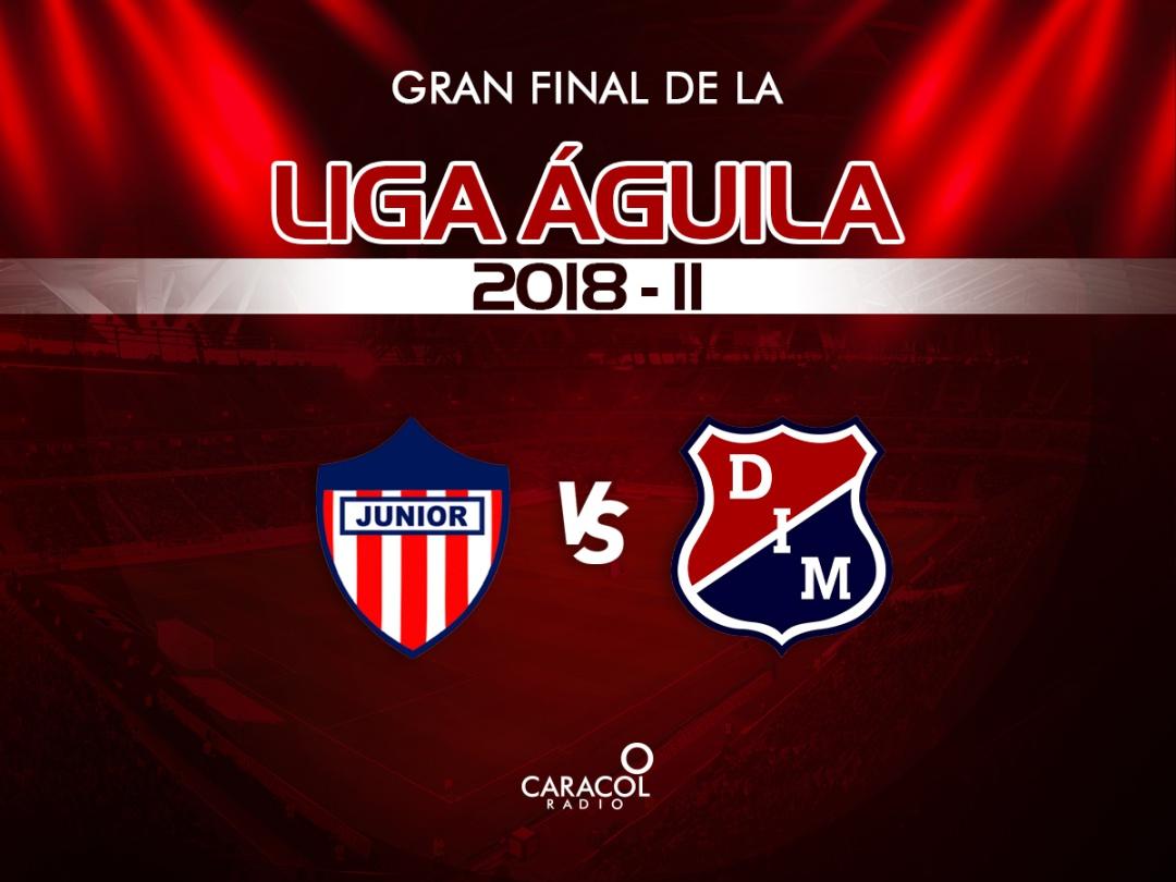 Medellín y Junior gran final de la Liga Aguila: ¡Gran final: Junior y Medellín irán por el título de fin de año!