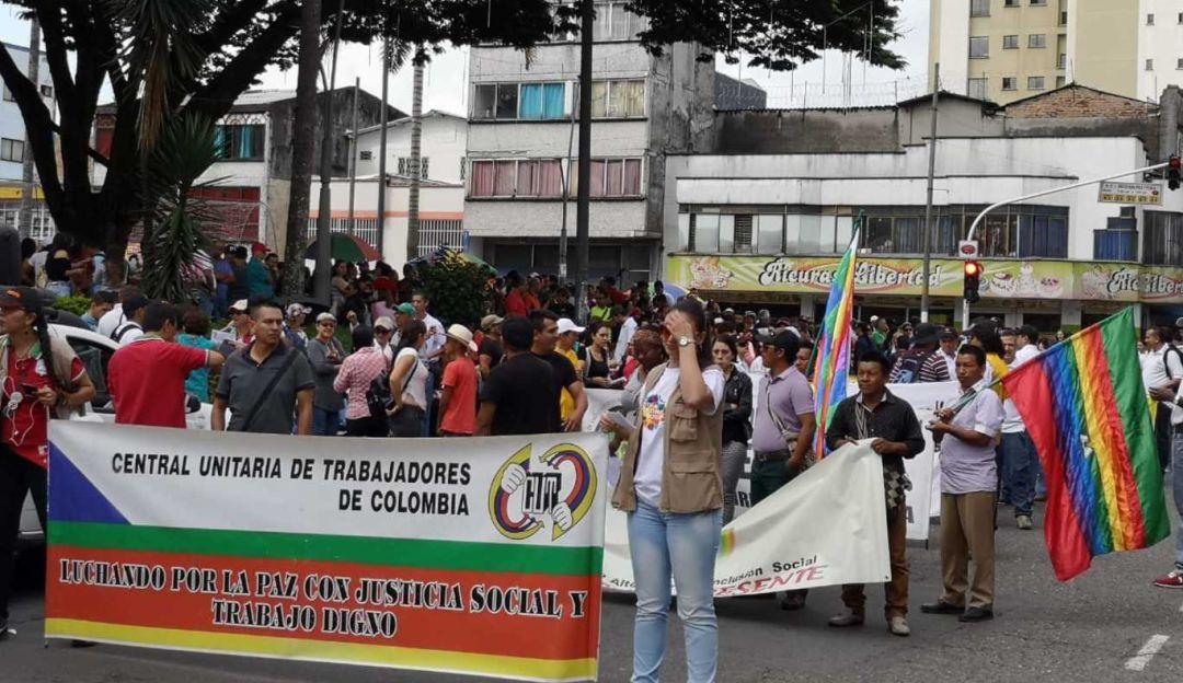 Más de tres mil personas marcharon por las calles de Pereira