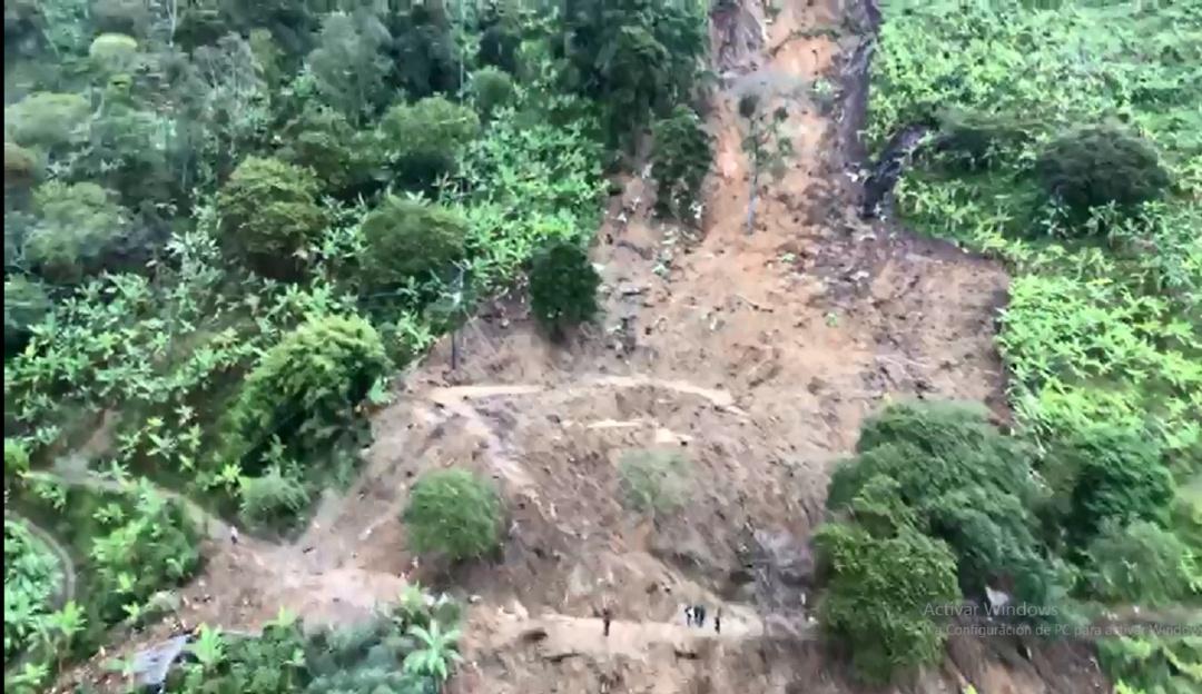 Tragedia en Calarca Quindío: Vía aérea se ve magnitud de tragedia en Calarca Quindío