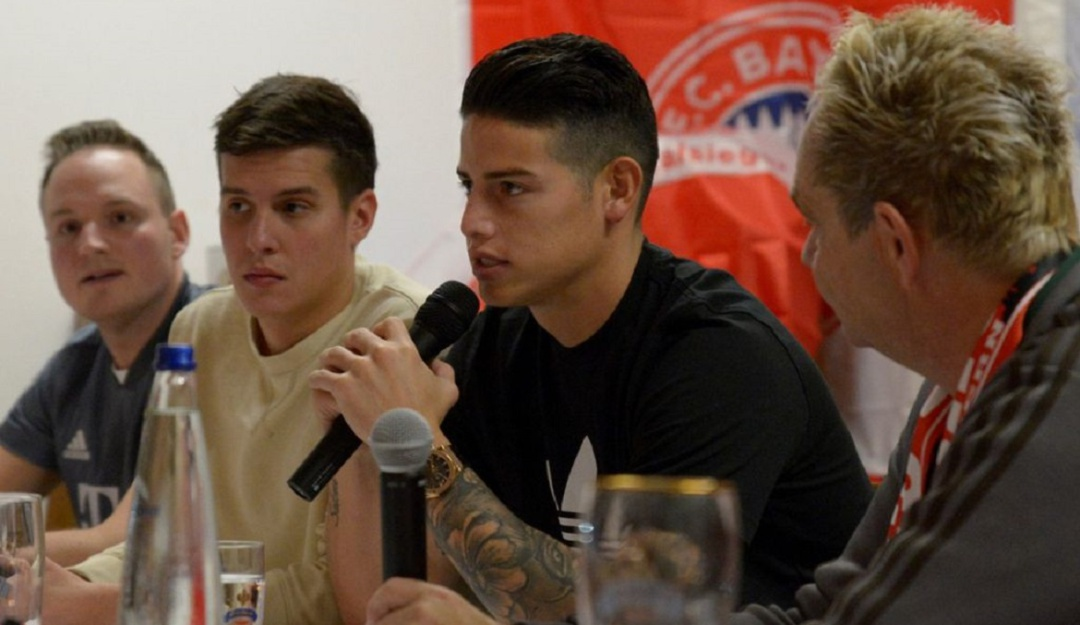 James confirma su deseo de seguir en el Bayern Munich
