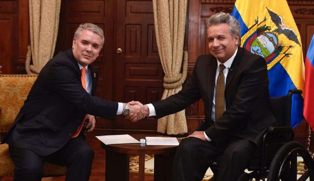 Presidente de Colombia Iván Duque en el VII Gabinete Binacional con el presidente de Ecuador Lenín Moreno