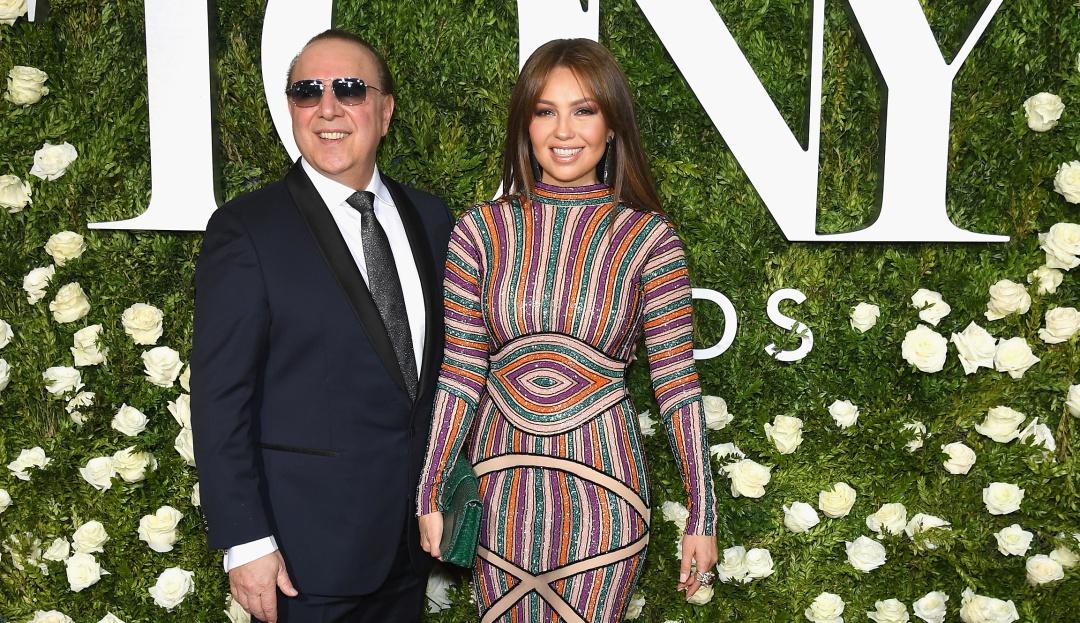 Tommy Mottola y su esposa Thalia