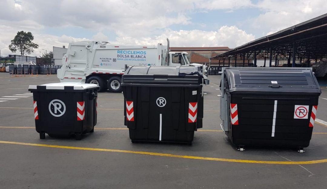 Desechos residuales: Van 10,746 contenedores de basura instalados en Bogotá