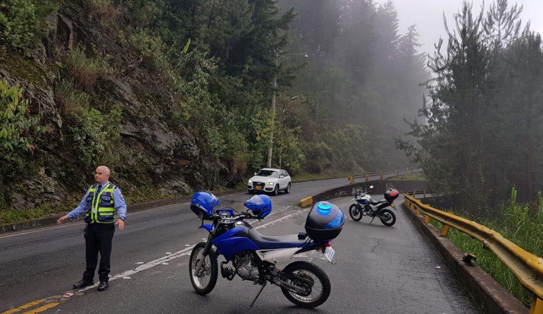 Cerrada la vía el Escobero sector La María