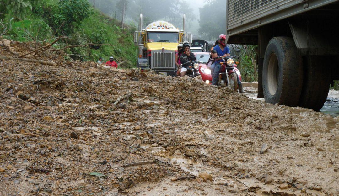Alerta roja en la zona limítrofe con el Chocó por deslizamientos de tierra