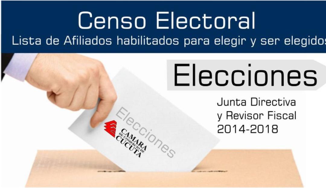 Elecciones Cámara de Comercio.