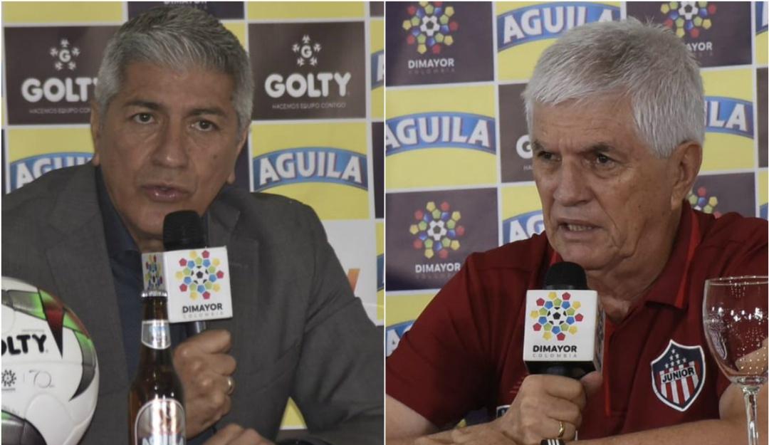 Rueda de prensa final Liga Águila: Comesaña y Zambrano se tiran flores en rueda de prensa