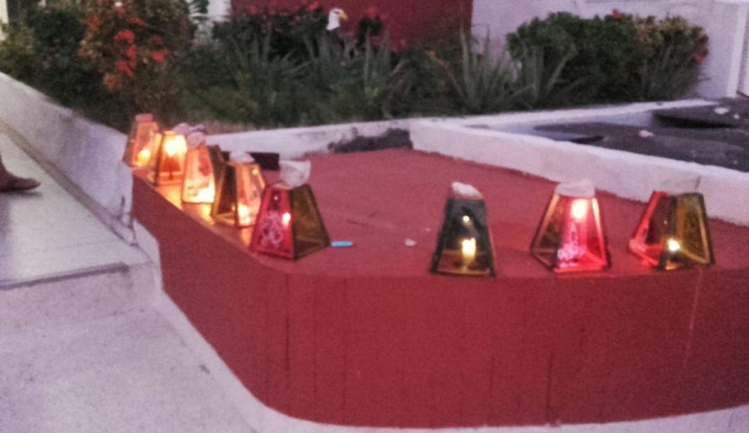 Fiesta de  Velitas en Barranquilla.