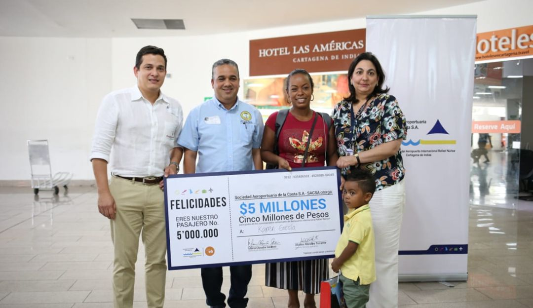 Karen, la viajera número cinco millones que aterrizó en Cartagena en 2018: Karen, la viajera número cinco millones que aterrizó en Cartagena en 2018