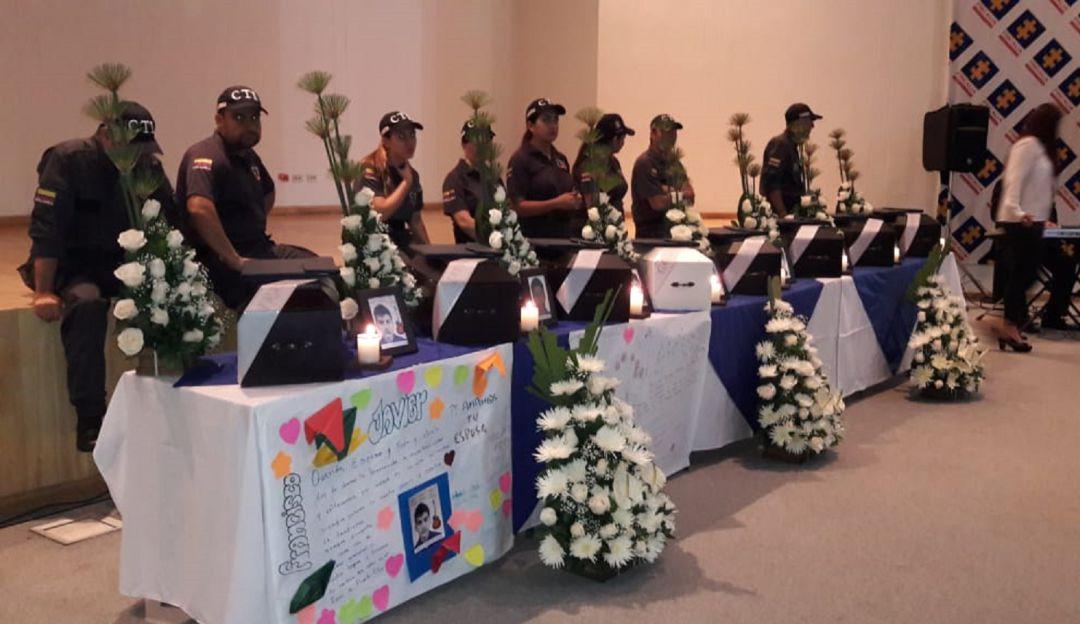 FISCALÍA, RESTOS, VÍCTIMAS, ANTIOQUIA, FARC, VIOLENCIA: La Fiscalía entregó restos de 4 personas asesinadas por las FARC