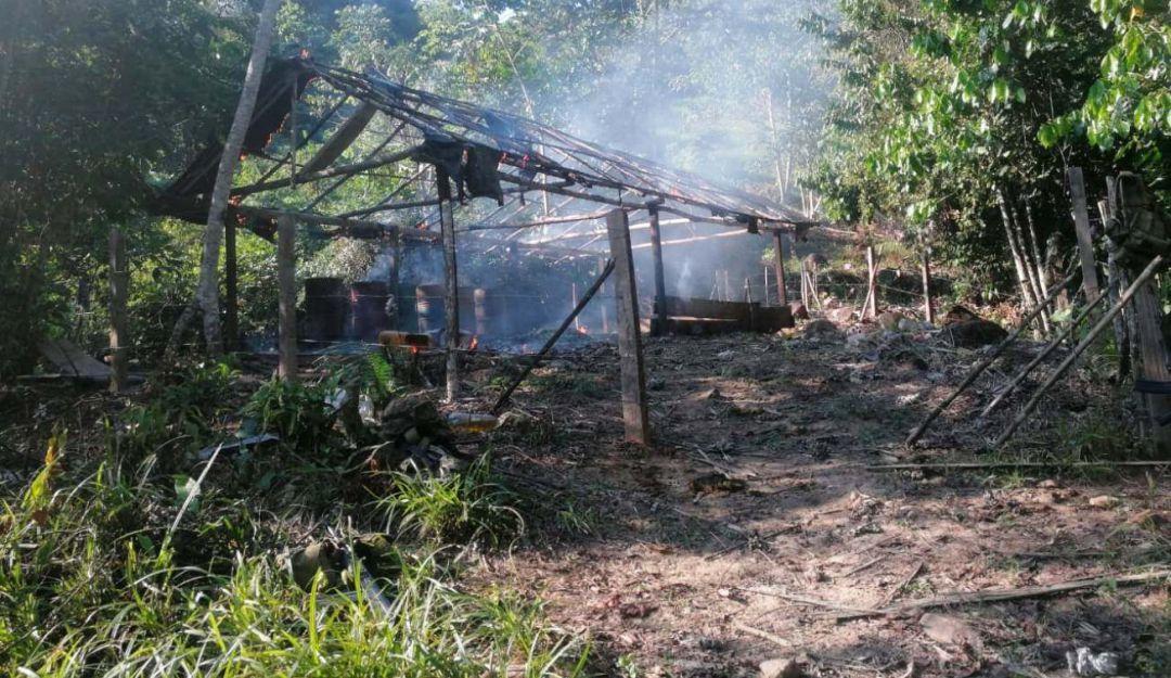 Destruyen laboratorio para el procesamiento de droga en Bolívar: Destruyen laboratorio para el procesamiento de droga en Bolívar