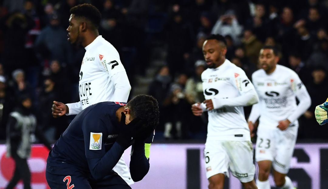 PSG quedó eliminado en cuartos de final ante el Guingamp — Sorpresa
