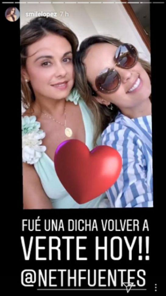 Emotivo reencuentro entre Jota Mario Valencia y Milena López