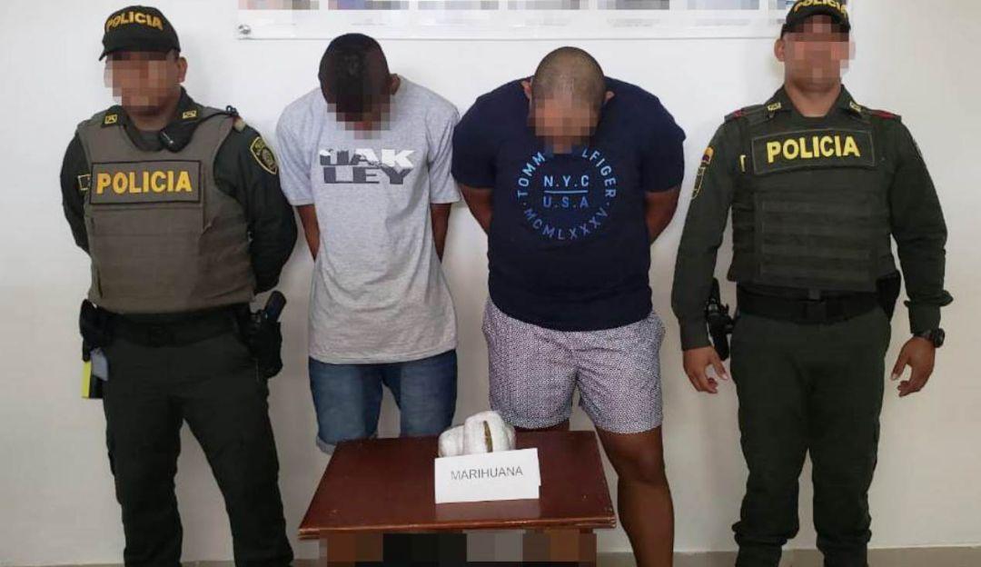 Capturan a dos primos con marihuana en el Aeropuerto de Cartagena: Capturan a dos primos con marihuana en el Aeropuerto de Cartagena