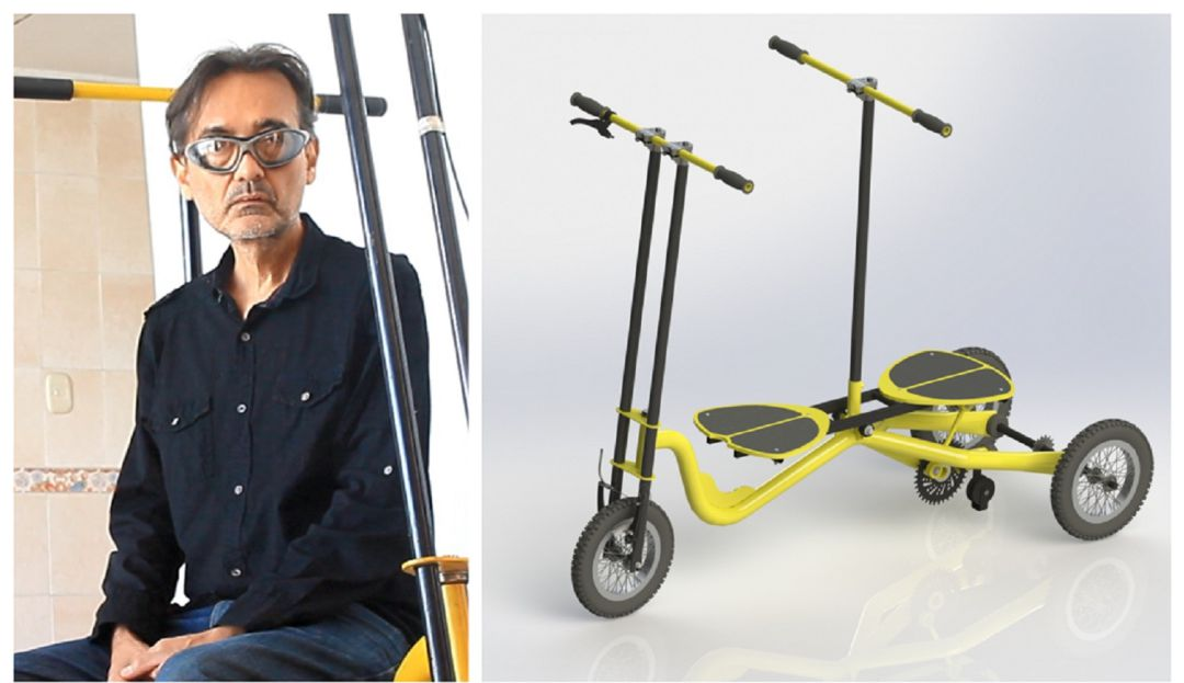 Caleño patenta novedosa bicicleta que funciona balanceándose