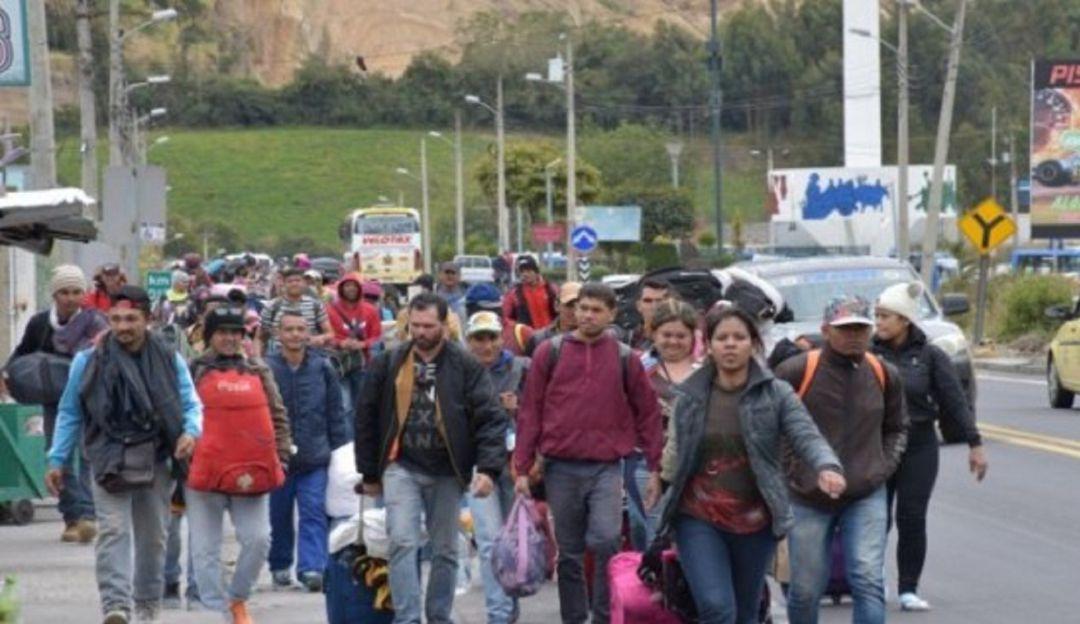 Caminantes venezolanos.