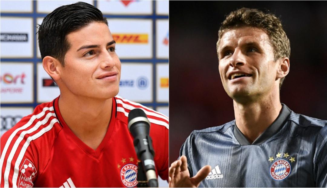 """james bayern: Thomas Müller: """"James hace pases que nadie más hace en el Bayern Múnich"""""""