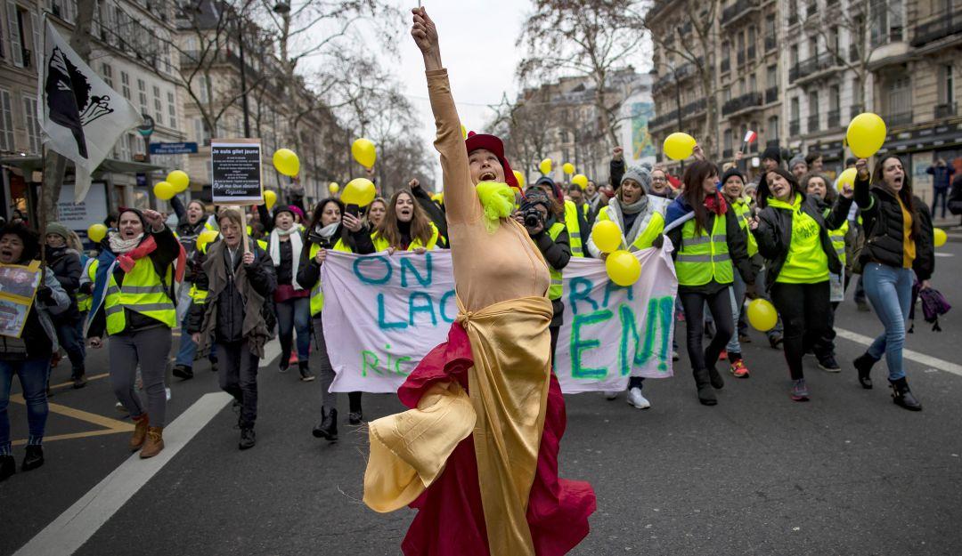 Novena jornada de protesta de los Chalecos Amarillos en Francia