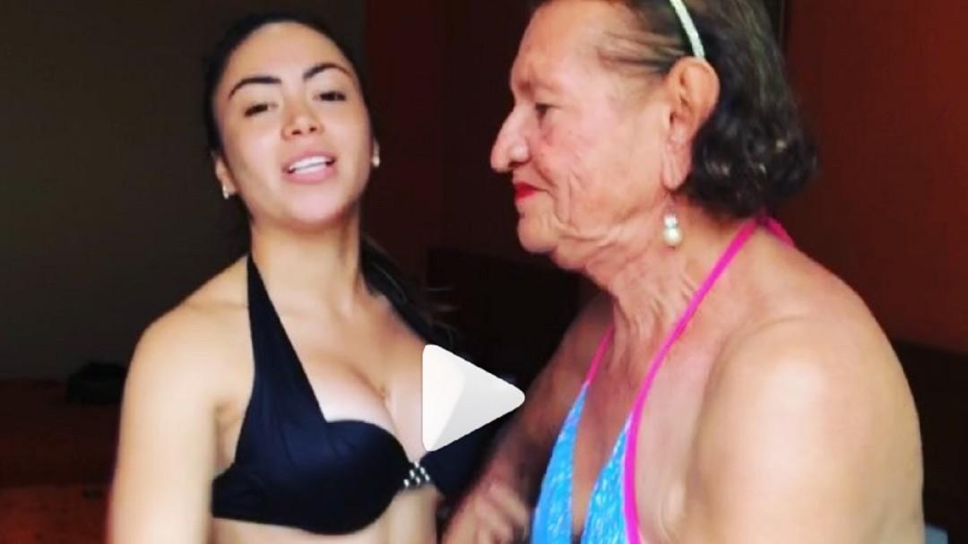 ¡Vergonzoso! Este es el video de Epa Colombia en bikini con la abuela