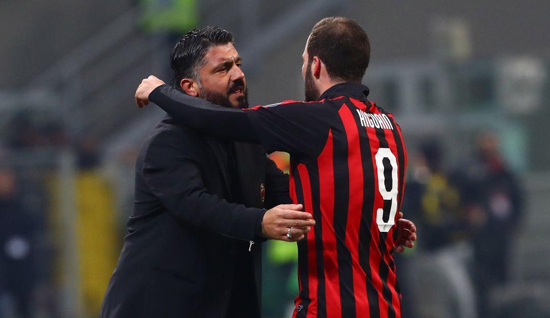 higuain milan: Gattuso reconoce que no sabe si Higuaín se quedará en el Milan