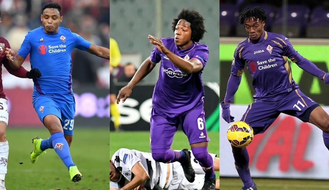 Luis Muriel Juan Cuadrado Carlos Sánchez Fiorentina: Muriel se unió a la cuota colombiana en la Fiorentina