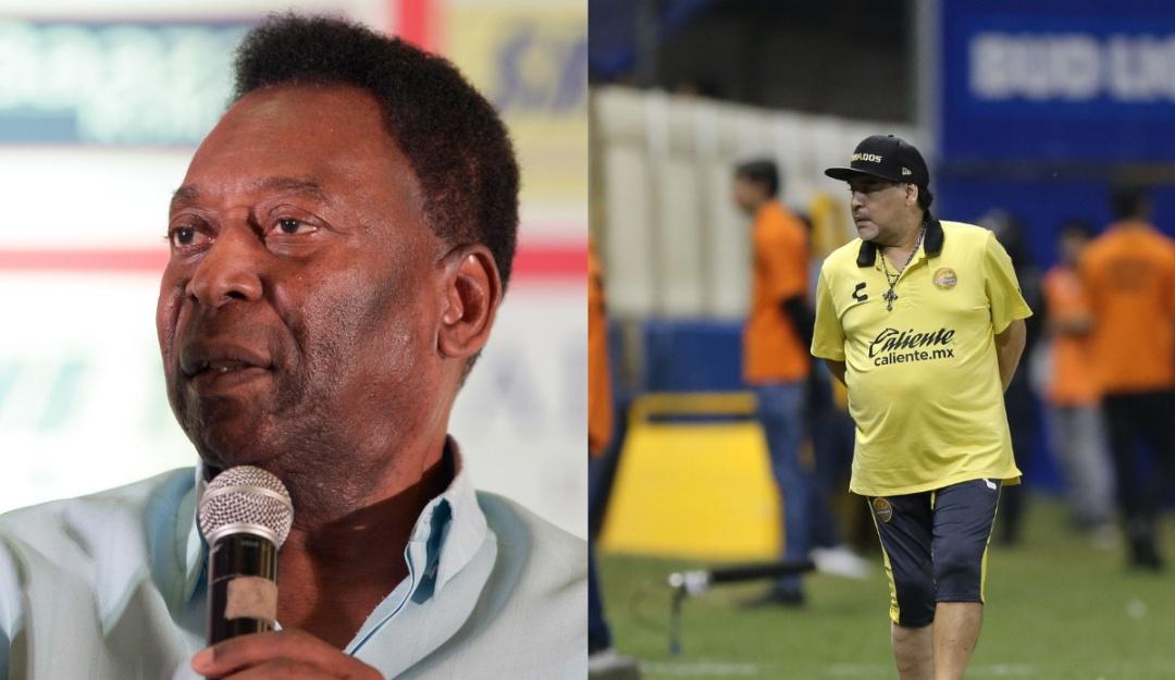 Pelé recuperación a Maradona: Pelé le desea pronta recuperación a Maradona