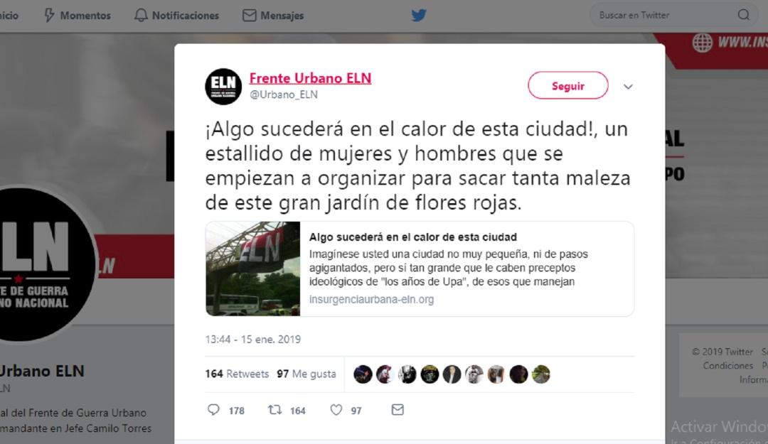 Carro bomba Bogotá autor: Confuso trino: ¿Se predijo el carro bomba en la General Santander?