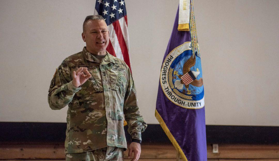 General Mark Stammer, comandante del Ejército Sur Norteamericano