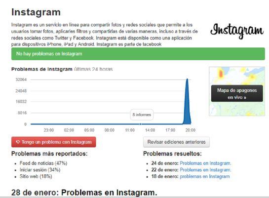 Fallas en la red social Instagram a nivel mundial
