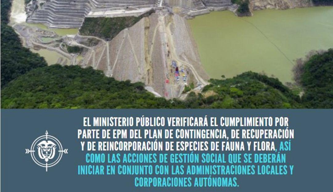 HIDROITUANGO, EPM, PROCURADURÍA, ANTIOQUIA, BAJO CAUCA: Procuraduría abre verificación por posible daño ambiental en Hidroituango