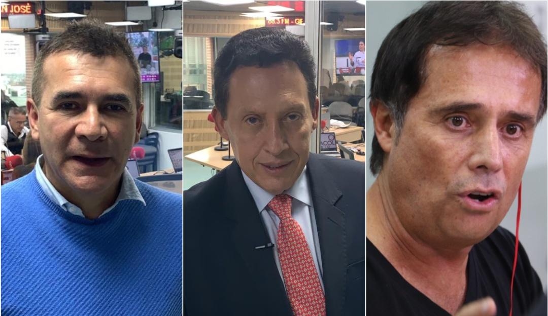 Diego Rueda, Óscar Rentería y César Augusto Londoño